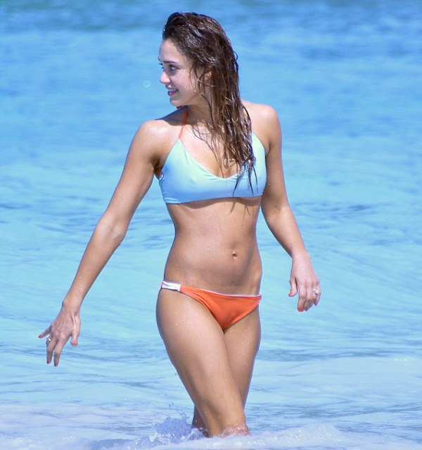 Jessica Alba and Cash Warren enjoying the sun in Saint Barts